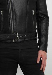 Serge Pariente - ROCKER DOUBLE FACE - Skinnjacka - black - 5