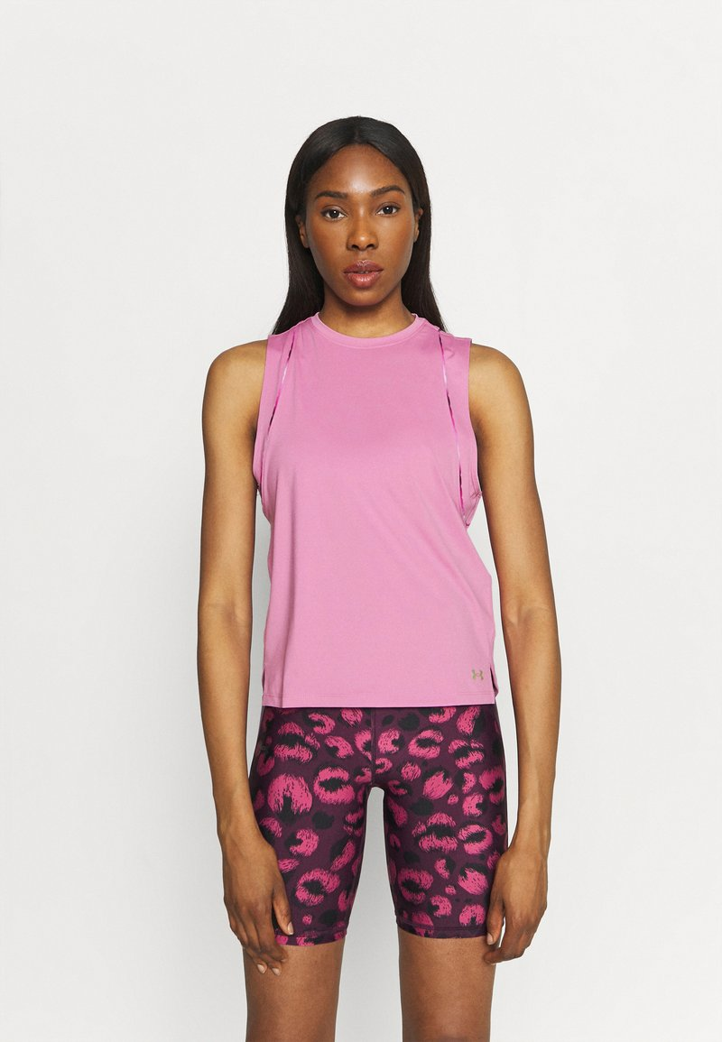 Under Armour - RUSH SCALLOP TANK - Top - planet pink
