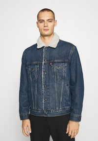 Levi's® - VTG FIT TRUCKER UNISEX - Denim jacket - dark blue denim - 0