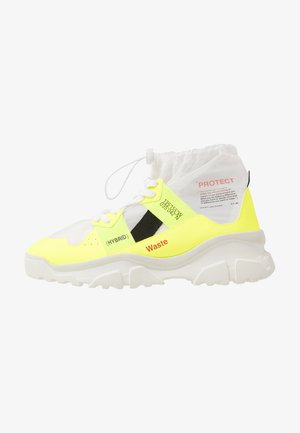 High-top trainers - fluo yellow