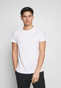 Pier One - 5 PACK - T-shirt basic - olive/ white/ navy /yellow /black - 1
