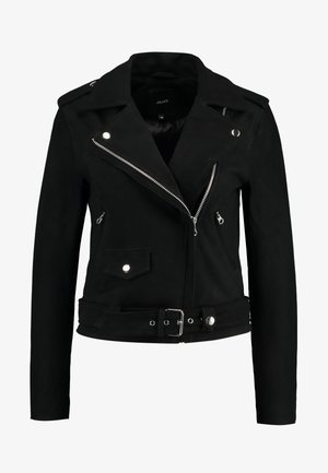 SEASONAL - Faux leather jacket - black