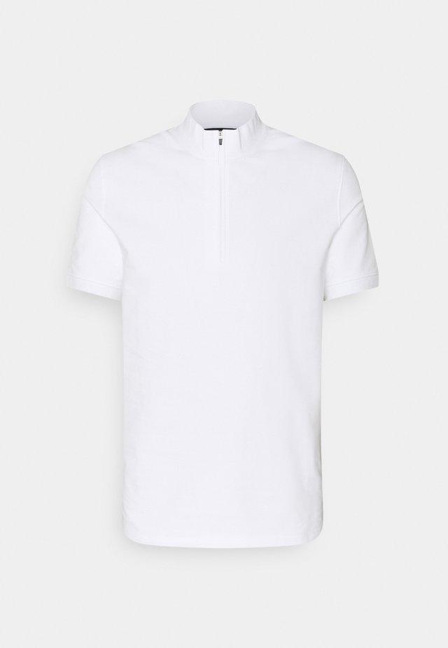 STEEL HALF ZIP  - Polo - white