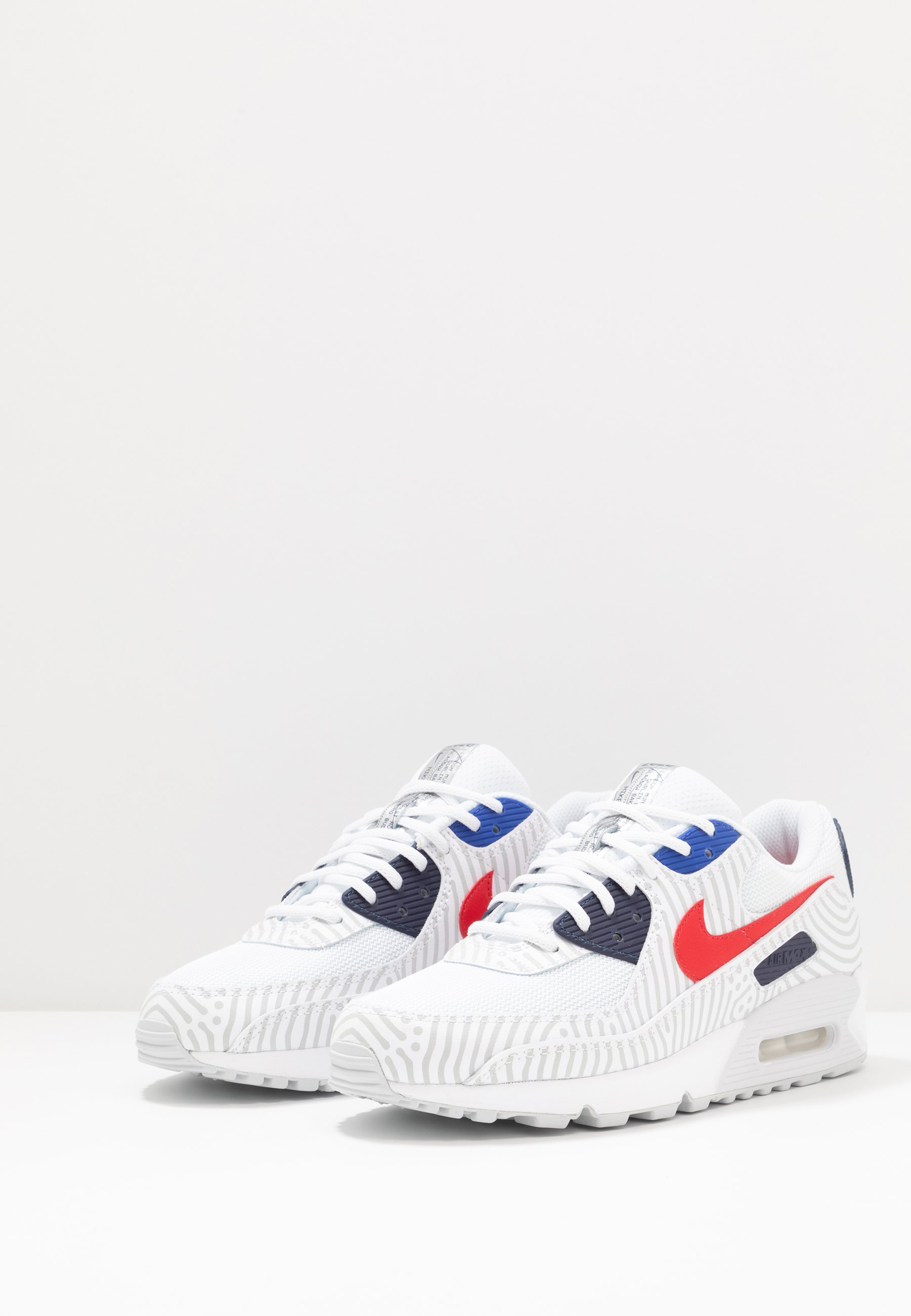 Nike Sportswear NIKE AIR MAX 90 Sneaker low white/university red/midnight navy/blue/pure platinum/metallic silver/weiß