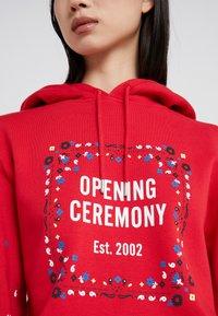 Opening Ceremony - BANDANA BOX HOODIE - Sweat à capuche - red - 5
