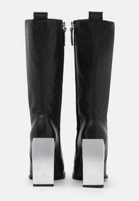 Topshop - TANGO LEG HARDWARE BOOT - Kozačky na vysokém podpatku - black - 3