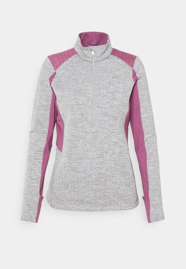 FORUN MIDLAYER  - Fleece jumper - white/aster purple