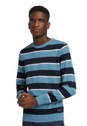 Sweatshirt - blue navy white stripe