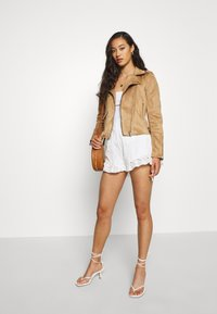 ONLY - BIKER - Faux leather jacket - toasted coconut - 1
