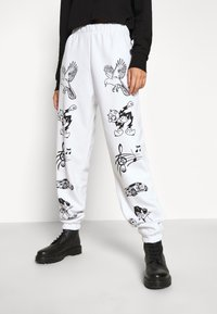 NEW girl ORDER - CLASSIC CARTOON - Pantalones deportivos - white - 0