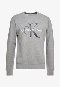 Calvin Klein Jeans - ICONIC MONOGRAM CREWNECK - Sweatshirt - mid heather grey - 3