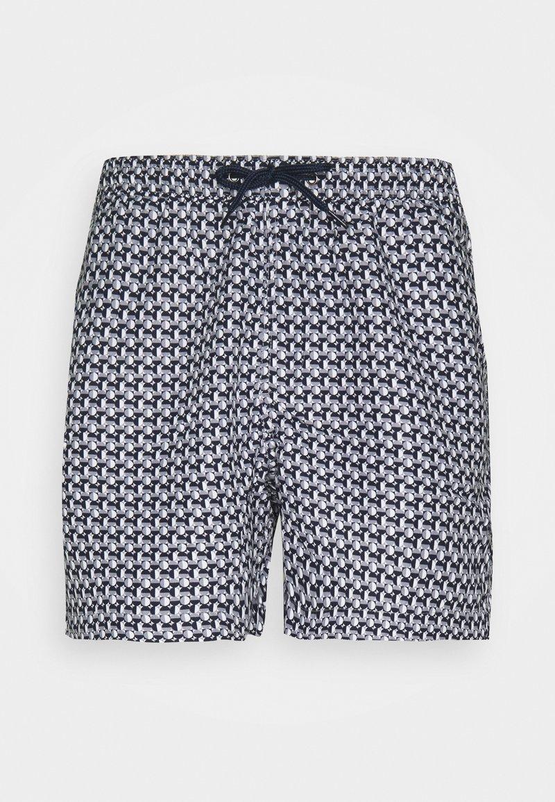 Brave Soul - SORRENTO - Swimming shorts - navy/grey/white