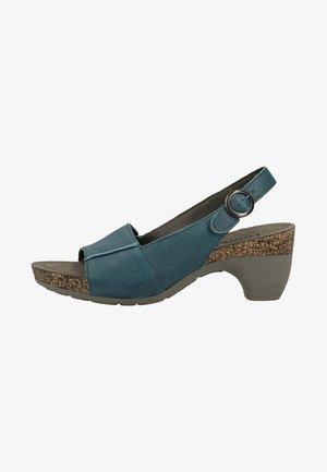 THINK! SANDALEN - Platform sandals - blue