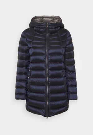 Down coat - navy blue dark steel