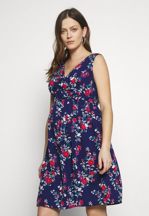 ORIENTAL PRINT MATERNITY & NURSING DRESS - Sukienka letnia - navy