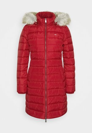 ESSENTIAL HOODED COAT - Dunkåpe / -frakk - wine red