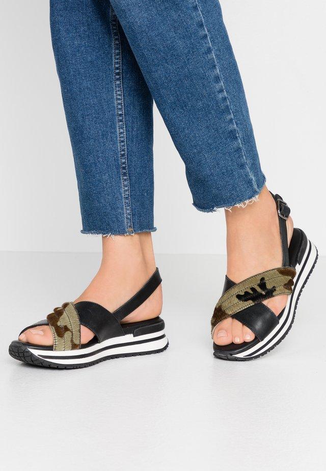 CLONE - Platform sandals - black