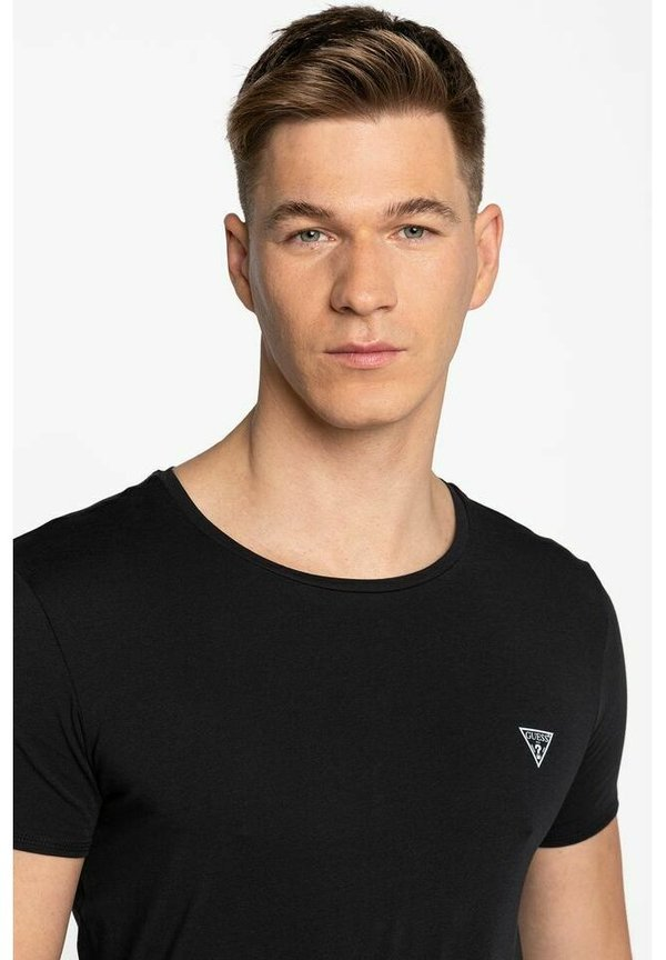 Guess T-shirt basic - black/czarny Odzież Męska LIDC