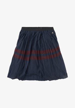 MIT STREIFEN - A-line skirt - blue