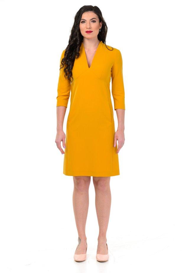 BRIDGET - Korte jurk - mustard