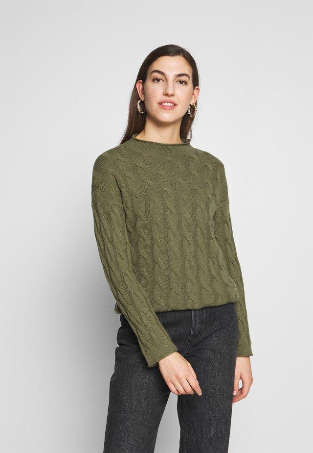 TURTLE NECK - Sweter - khaki