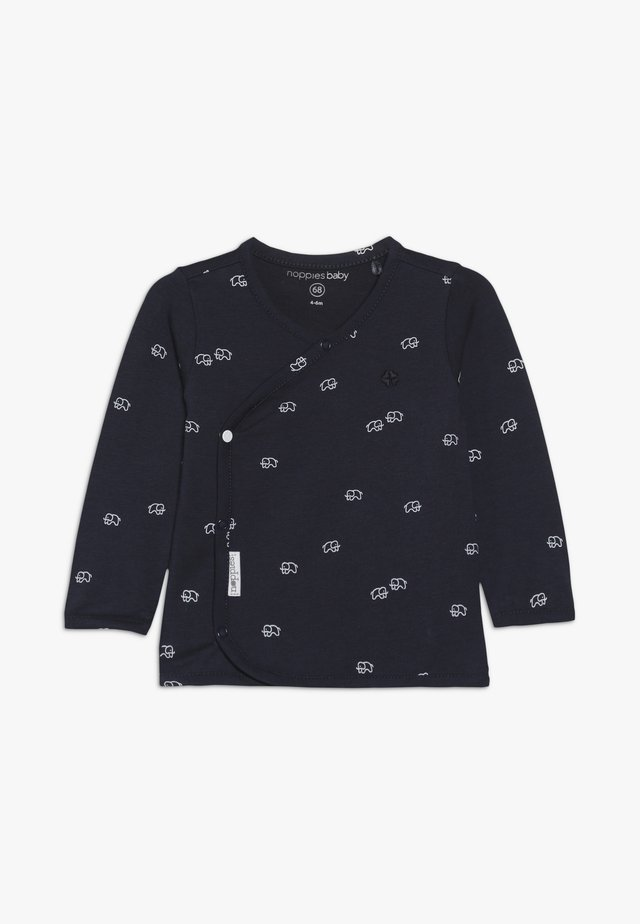 OVERLAP JONES - Long sleeved top - navy