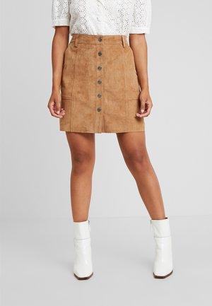 SLFAVI SPLIT SKIRT - A-line skirt - tigers eye