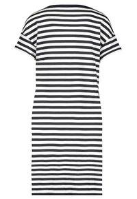 Monari - GESTREIFT - Day dress - black, white - 2
