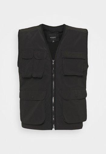 TRACKVEST - Waistcoat - black