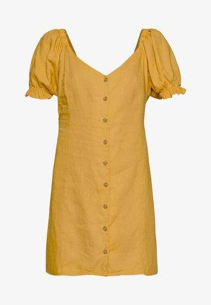 AURORA SHORT SLEEVE MINI DRESS - Shirt dress - mineral yellow