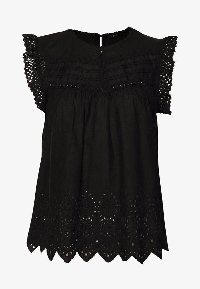 ONLSABRYNA LYRIC TOP - Blusa - black
