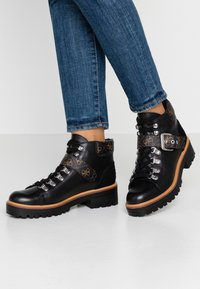 Guess - IRVIN - Ankle boots - black/brass - 0