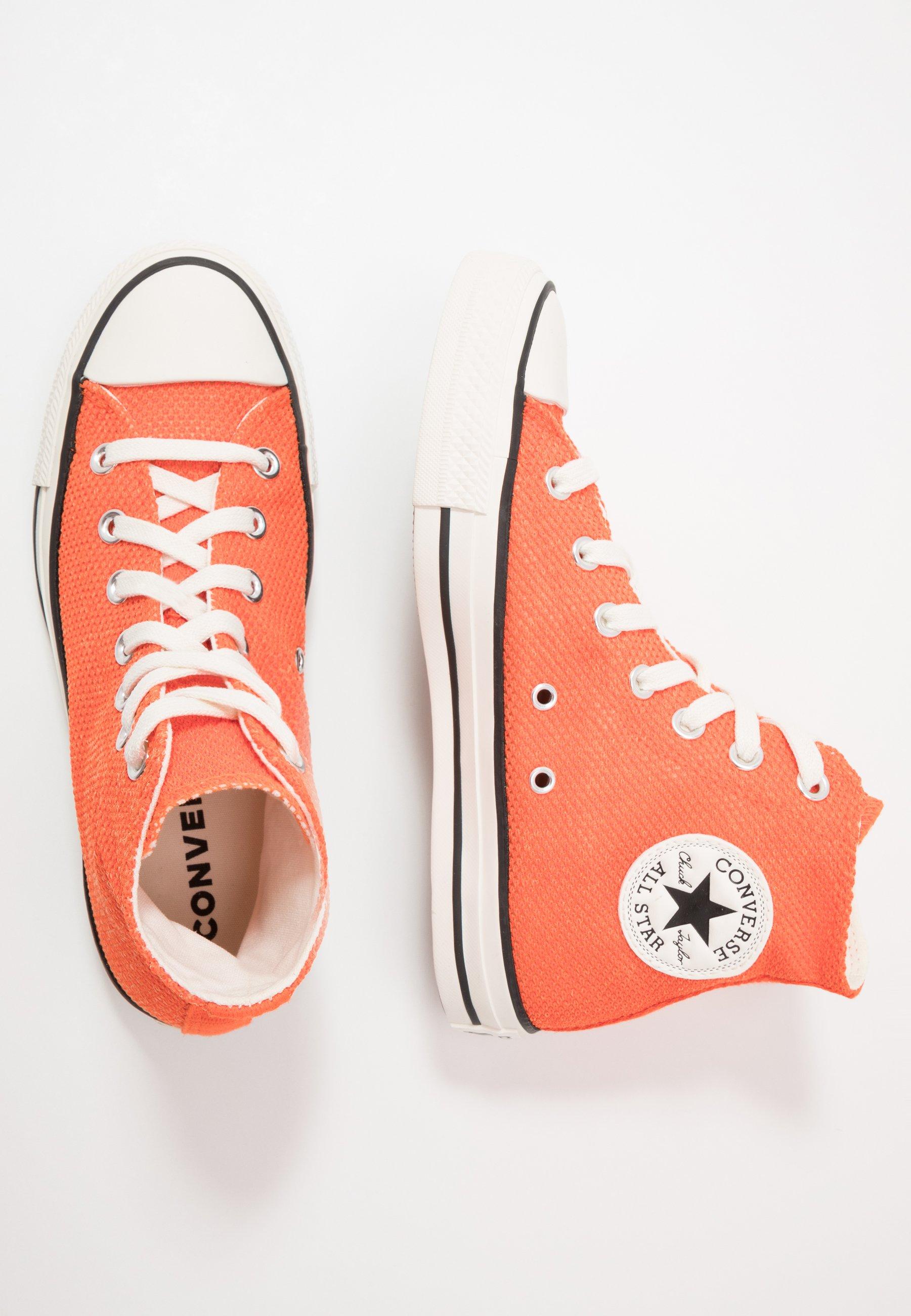 Converse CHUCK TAYLOR ALL STAR - Høye joggesko - bold mandarin/fuel orange/egret