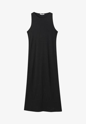 Pletené šaty - mottled black