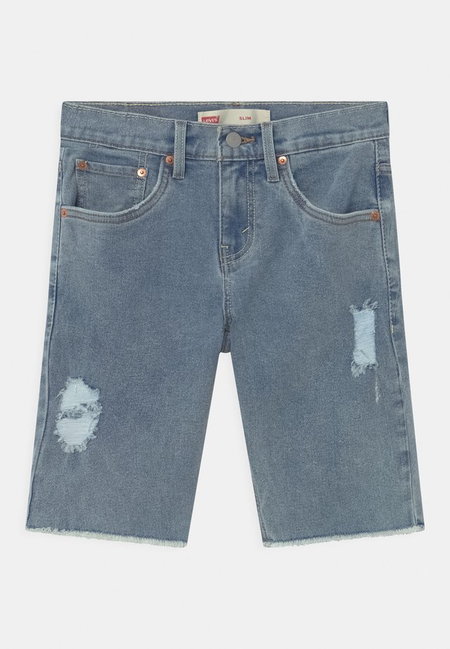 SLIM FIT ECO FLEX  - Shorts di jeans - light-blue denim