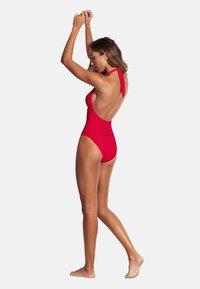 Seafolly - CAPRI SEA HALTER MAILLOT - Swimsuit - ruby - 2