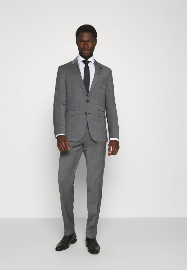 FLEX CHECK SLIM FIT SUIT SET - Completo - grey/white