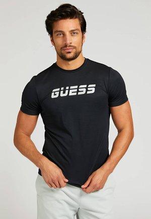MIKROFASER - T-shirt imprimé - schwarz