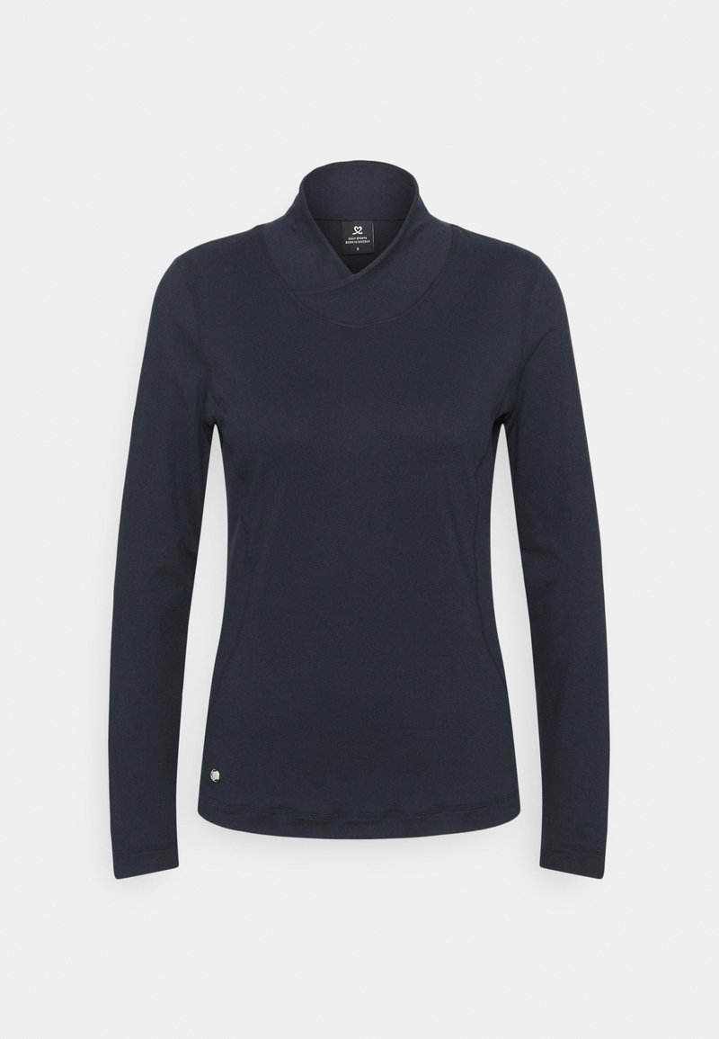 Daily Sports - AGNES MOCK NECK - Long sleeved top - navy