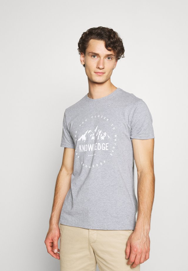 ALDER MOUNTAIN TEE - T-Shirt print - grey