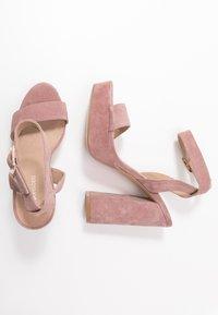 Even&Odd - LEATHER - High heeled sandals - rose - 3