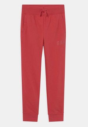 BOYS FRANCHISE LOGO - Tracksuit bottoms - weathered red