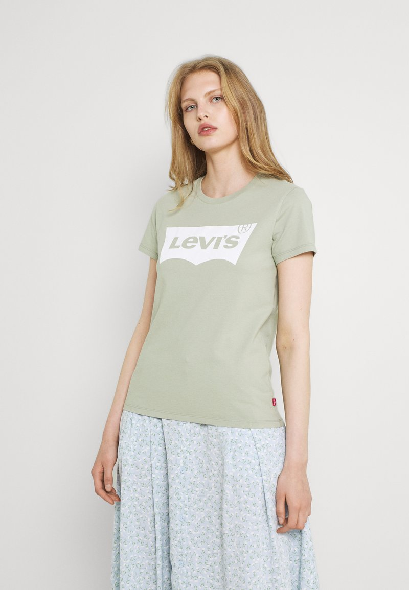 Levi's® - THE PERFECT TEE - T-shirt con stampa - desert sage