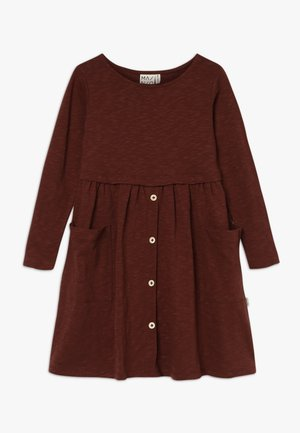BUTTON DRESS SLUB - Jersey dress - hot chocolate