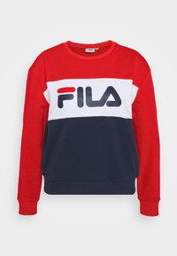 Fila Petite - LEAH CREW - Sweatshirts - black iris/true red/bright white - 4