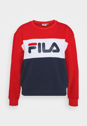 LEAH CREW - Felpa - black iris/true red/bright white