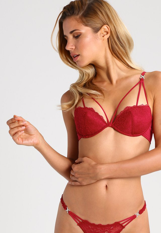 TEMPTATION - Push-up bra - red