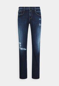 Replay - ANBASS HYPERFLEX BROKEN&REPAIR - Slim fit jeans - dark blue - 0