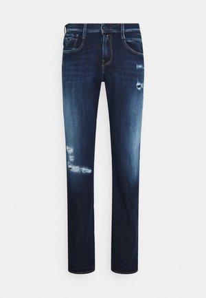 ANBASS HYPERFLEX BROKEN&REPAIR - Slim fit jeans - dark blue