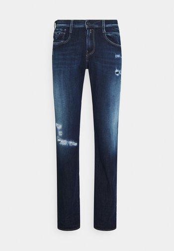 ANBASS HYPERFLEX BROKEN&REPAIR - Slim fit -farkut - dark blue